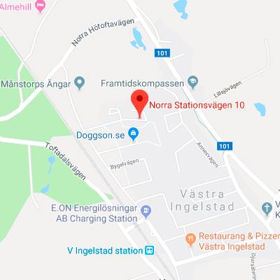 Karta Västra Ingelstad